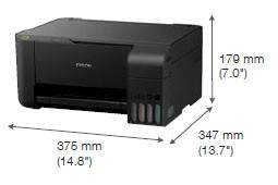 ukuran dimensi printer Epson L3150